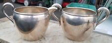 ESTATE STERLING SILVER PREISNER 768 SUGAR BOWL & CREAMER SET-136.6g NO MONOS