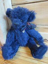 "Knickerbocker Libearty 20"" Blue Jointed Mohair Bear #779 Retired"