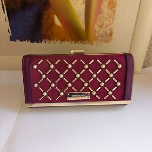 River Island Large Burgundy Faux Leather Purse