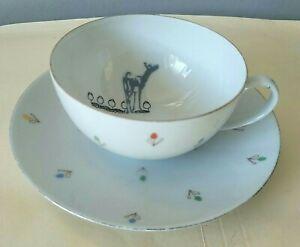 ARZBERG 112 Vintage Cup & Saucer Floral