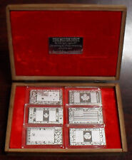 1973 The Silver Mint Silver Producing Nations 6 Ingot Set 999 Silver Art Bars