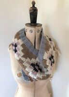 Ladies Monsoon Accessorize Chunky Infinity Woolen Snood Scarf - One Size