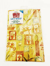 Gardening Gift Wrap Paper 2 Sheets 1/2 Off Card Shop Inc. Wrapping Paper Vintage