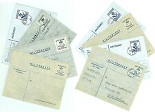 Sweden V32 Military mail Cover (8 pcs) mint/used