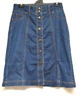plus sz M / 20 VIRTU TS TAKING SHAPE Sea Breeze Skirt blue denim NWT rp$120