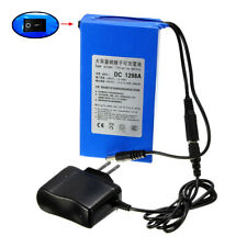 DC 12V 9800mAh Super Rechargeable Portable Li-ion Battery US Plug Battery Pack