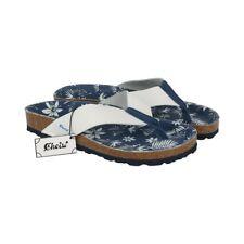 Cheiw niñera flip flops de cuero blanco/azul 45792 talla 33
