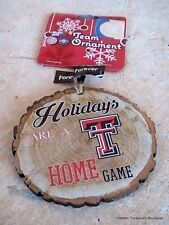 Texas Tech Red Raiders Holidays Are A TT Home Game Christmas Ornament NCAA NWT