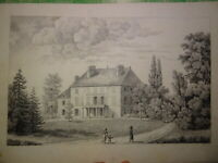 Ecole FRANCAISE DEBUT XIX GRAND DESSIN PAYSAGE ANIME CHATEAU EPOQUE EMPIRE 1810