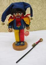Steinbach Handmade Germany Wood Nutcracker Jester Bells Hat Staff w/ Tag l