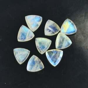 Rarest Lot Natural Rainbow Moonstone 5X5 mm Trillion Faceted Cut Loose Gemstone
