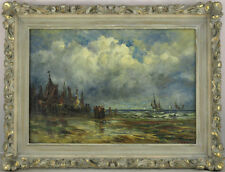 Robert B.Hopkin (1832 - 1909) Scottish/American Listed Antique Oil/Canvas Ships