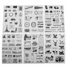 6 Sheet Vintage Paper Sticker Photo Album Scrapbook Calendar Diary Planner Decor