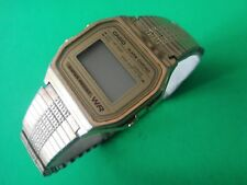 Nice Vintage Casio 593 A158W Quartz LCD Digital Alarm Man Watch