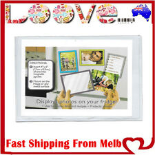2 x Clear Magnetic Fridge Photo Frames 4x6 10x15cm Clear Pocket Gift Home Decor