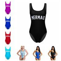 Womens One-Piece Swimsuit Bikini Push-up Training Sports Bathing Swimwear Beach
