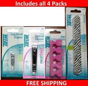 TRIM Toe Nail Clipper 01882 +Finger nail clipper +boards +toe separators