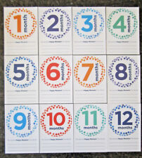 Baby Monthly Stickers 12 Month Milestone Happy Photo New Boy/Girl Shower Gift