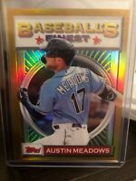 2020 Topps Finest Flashbacks Gold Austin Meadows Tampa Bay Rays 49/50