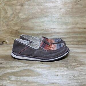 Ariat Cruiser Fleece 2 Loafer Shoes Women's 7B Brown Moc Toe Slip On 10025057
