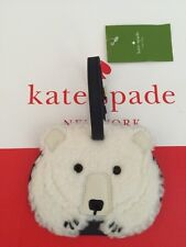 NWT Kate Spade Polar Bear Cold Comforts Luggage Tag, Bag Charm, Travel Gear