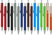 Soft Rubberized Smooth Touch Ballpoint Writing Click Pen, Assorted, 16 pack
