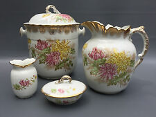 Antique royal vitreous porcelain John Maddock & Sons chamber -  bath set 1870's