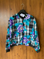 RRP £49 - URBAN OUTFITTERS RENEWAL BOMBER JACKET Floral Print M / UK 12-14 - VGC