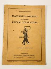 1920's MCormick Deering Cream Separator Manual International Harvester Book