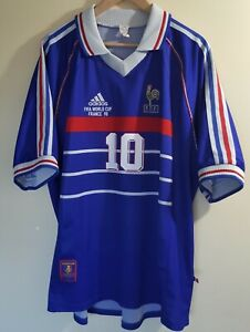 Maillot France Zidane Wc 98 Taille Xl home original
