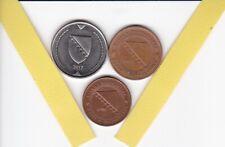 BOSNIEN UND HERZEGOWINA  3   unterschiedliche Münzen, Europa