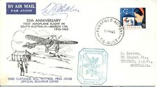 Australia Australie 1965 cover flight vol signed Bill Wittber aviation pioneer