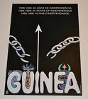 Political OSPAAAL Solidarity Original Cuban POSTER from 1998.Africa Guinea Free