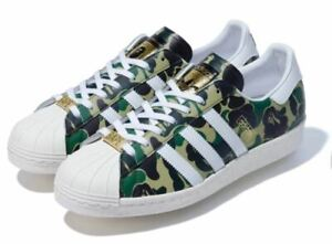 adidas Superstar 80s Bape A Bathing Ape ABC Camo Green US size 13 DS *Confirmed*