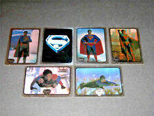 Superman - The Movie Series 1 - Complete 6 Card Foil Sticker Set - 1978 Topps NM