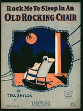 Old Rocking Chair 1926 Mother Baby Lullaby Vintage Sheet Music Q17