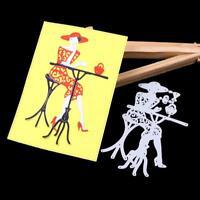 Frau Metall Stencil Cutting Dies Scrapbooking Stanzschablone Stencil Album Karte