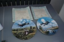 Pair of Royal Doulton collector plates from the heroes of the sky collection