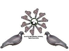 PIGEON DECOY SOCKS - SET OF 10 - HIGH DEFINITION  STRETCH COVER - SHOOTING