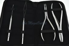 HAIR EXTENSIONS Fitting & Removal Pliers Kit - Micro Ring Loop & Pulling NEEDLES
