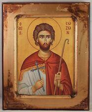 Greek Orthodox Icon of St. Sozon, Holy Martyr and Shephard