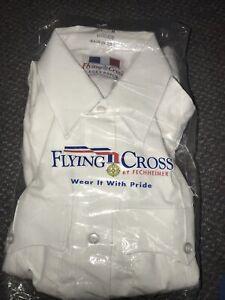 Flying Cross White Uniform Shirt 34 M Duro Poplin