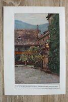 Kunst Druck 1 Blatt 1908/09 Hof Burg Runkelstein Bozen nach Peter Paul Müller ++