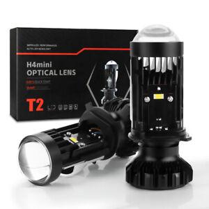 2X H4 9003 LHD Mini Bi LED Projector Lens 100W Hi/Lo Beam LED Headlight Headlamp