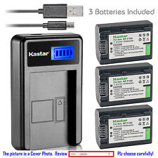 Kastar Battery LCD Charger for Sony NP-FV50 & Sony HDR-CX200 HDR-CX210 HDR-CX220
