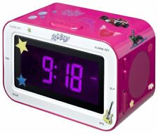 Bigben Interactive Rr30 Horloge Analogique Rose Radio portable