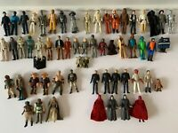STAR WARS LARGE ACTION FIGURE LOT X 58 KENNER VINTAGE ANH ESB ROJ 1978 1980 1983