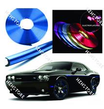 Car Wheel Hub Rim Protector Ring Sticker Tire Guard Line Rubber Strip Blue