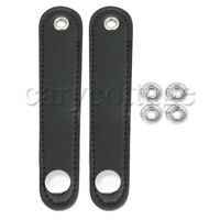 2x Adjustable Accordian Bellows Straps Full Leather for Bass Accordion 14x2.5cm