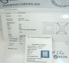 1.02 CARAT PRINCESS DIAMOND CERTIFIED D VS2 REDUCED NO ENHANCEMENT